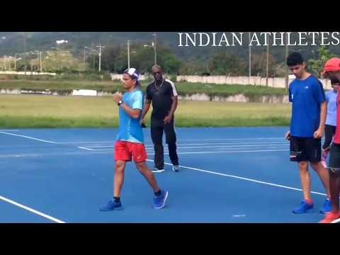 Indian Athletes at JAMAICA!!🇯🇲    Usain Bolt training club   Races Track Club Kingston, Jamaica