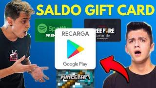 GANHAR SALDO GRÁTIS em GIFT CARD E DINHEIRO NA GOOGLE PLAY STORE!