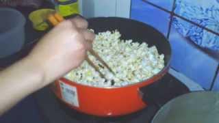 Cách nổ bỏng ngô  nhu the nao