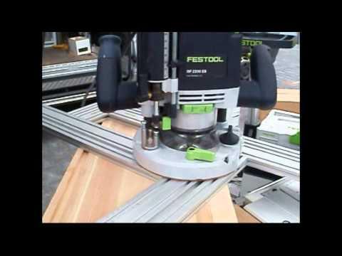 Frezowanie w policzku pod stopnie frezarką OF 2200 EB oraz szablonem MFS