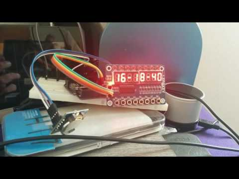 Arduino clock with RTC DS1307 and TM1638 display - YouTube