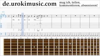 Gitarrenunterricht Mo-Torres, Cat Ballou & Lukas Podolski - Liebe deine Stadt Noten Lernen Teil#2
