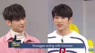 Video 161209 idol battle likeYoungjae acting with Eunwoo download MP3, 3GP, MP4, WEBM, AVI, FLV November 2017