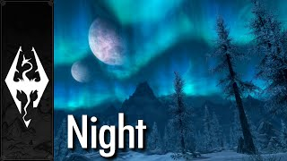 skyrim music ambience night