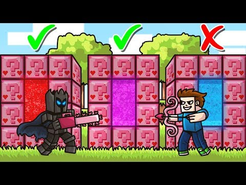 DO NOT Choose The WRONG PINK LUCKY BLOCK PORTAL in Minecraft