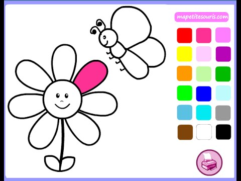 Free Flower Coloring Pages For Girls - Flower Coloring ... | free coloring pages for girls-flowers