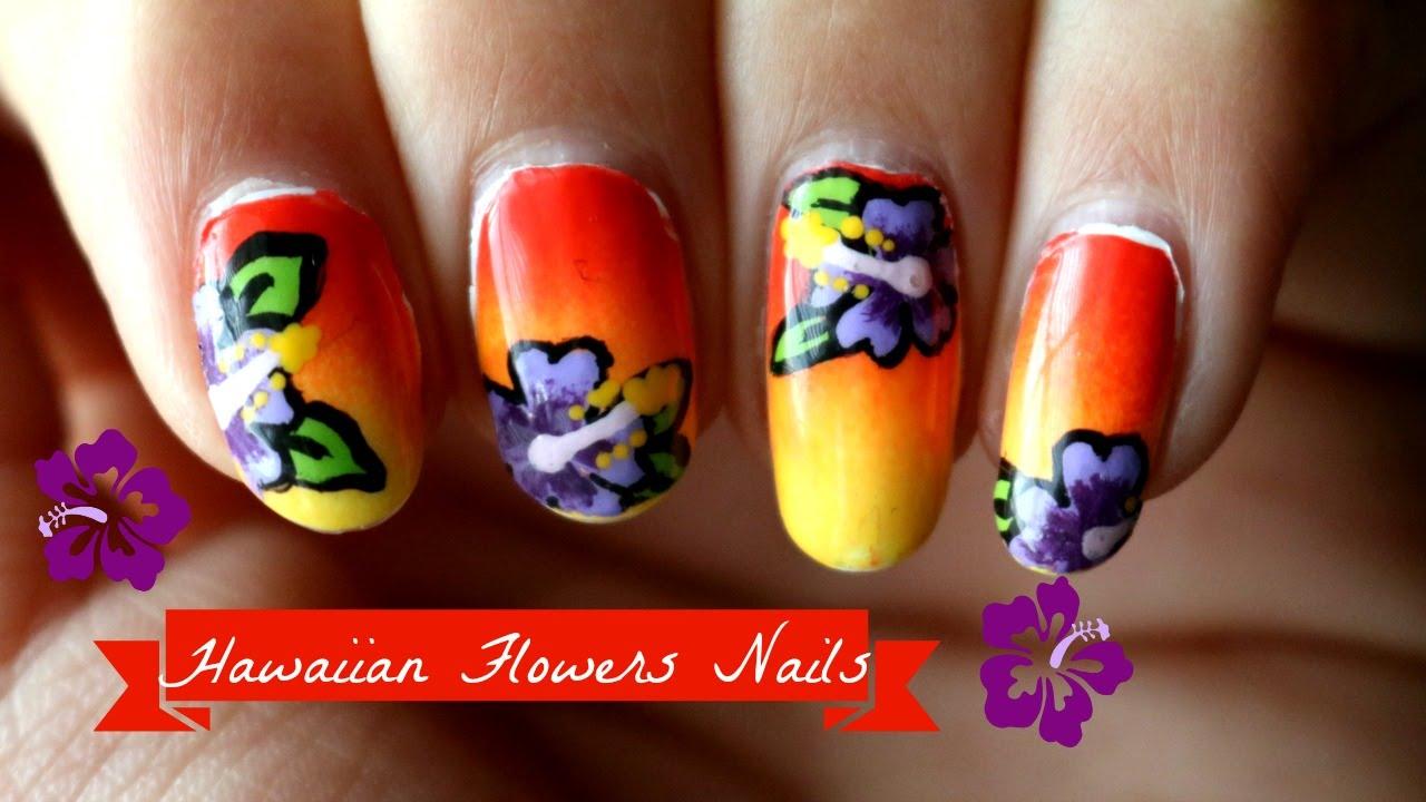 Hawaiian flower nail tutorial youtube hawaiian flower nail tutorial izmirmasajfo