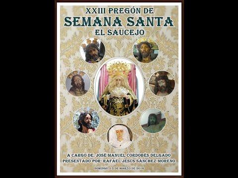 Pregón Semana Santa El Saucejo 2016