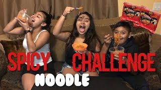 SPICY NODDLE CHALLENGE 😳🔥 FT. MY COUSINS