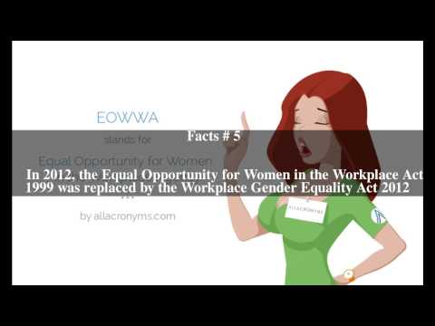Equal Opportunity for Women in the Workplace Agency Top # 7 Facts