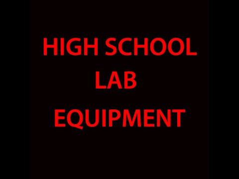 High School and General Chemistry Lab Equipment.