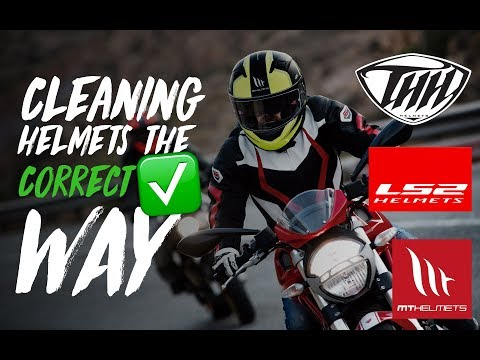 How to clean a MT/LS2/THH helmet (Inside Out) // SandyVlogs