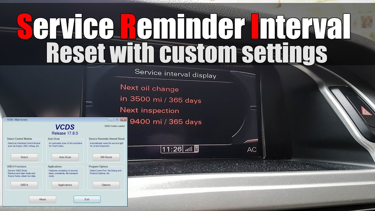 audi a4 b8 vcds service reminder interval reset with. Black Bedroom Furniture Sets. Home Design Ideas