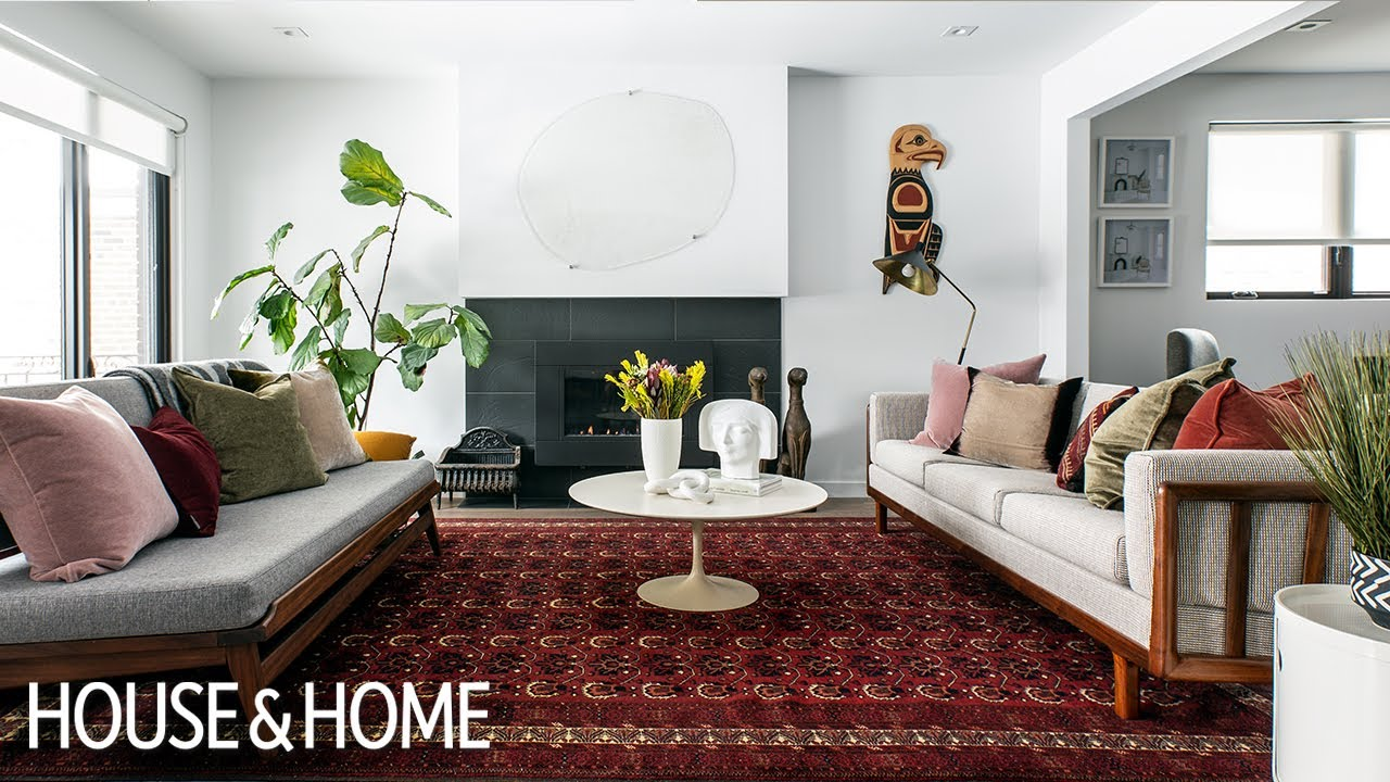Step Inside A Mid Century Modern Home Adorned With Art Youtube