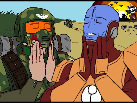 Dawn of War: Soulstorm Ultimate Apocalypse Tau and Imperial Guard vs 2x Ork Insane AI
