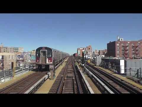 NYC Subway HD 60FPS: Bombardier R62A 7 Semi-Express Train Railfan Window [RFW] Ride (3/23/17)