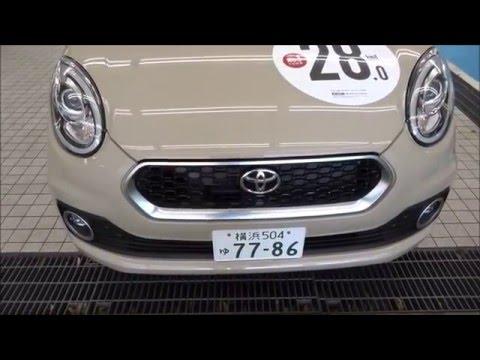 トヨタ新型パッソ MODA S (2WD)2016試乗車撮影!