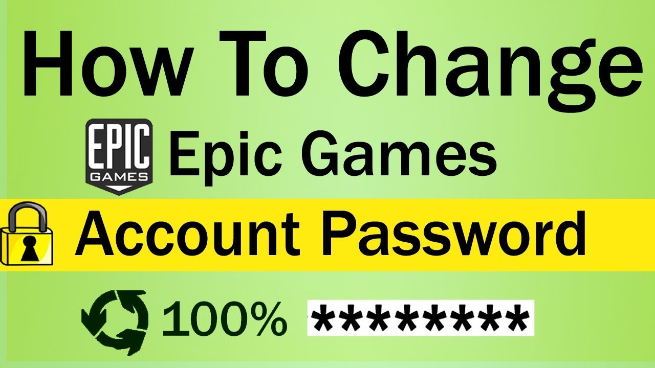 How To Change Epic Games Account Password - YouTube
