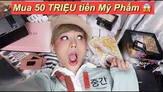 TY Mua Hết 50 TRIỆU tiền Mỹ Phẩm   Huge Haul 2018   Ty Lê  