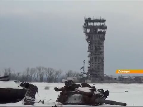 30.12.2014 Donetsk Airport. Paratroopers going to the airport.