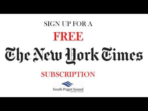 New york times online subscription login
