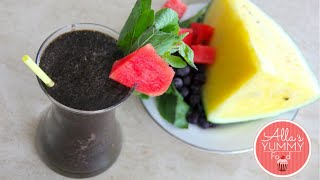 Healthy Breakfast: Day 2: Watermelon & Basil Smoothie - Losing Weight