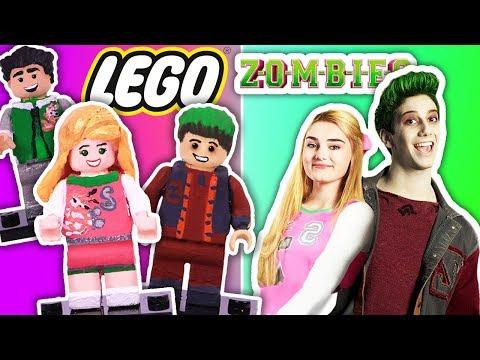 DIY 💖 ADDISON & ZED 🧟♂️ into LEGO Minifigures - Custom Lego ZOMBIES from Disney Channel