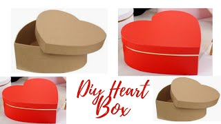 How To Make Heart Shaped Paper Gift Box Heart Box   Paper Box Diy Paper Box