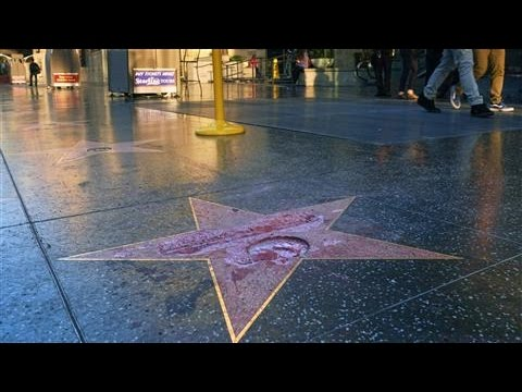 Trump Star Defaced on Hollywood Walk of Fame