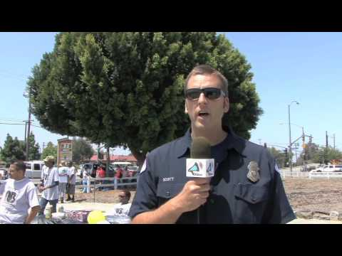 Steven Neal promotes North Long Beach Farmers Market and Business Alliance clean up project