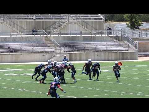 USA Football #77 Noah Myers Protecting the QB
