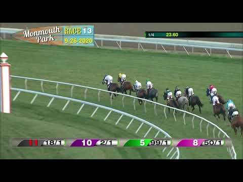 video thumbnail for MONMOUTH PARK 09-26-20 RACE 13