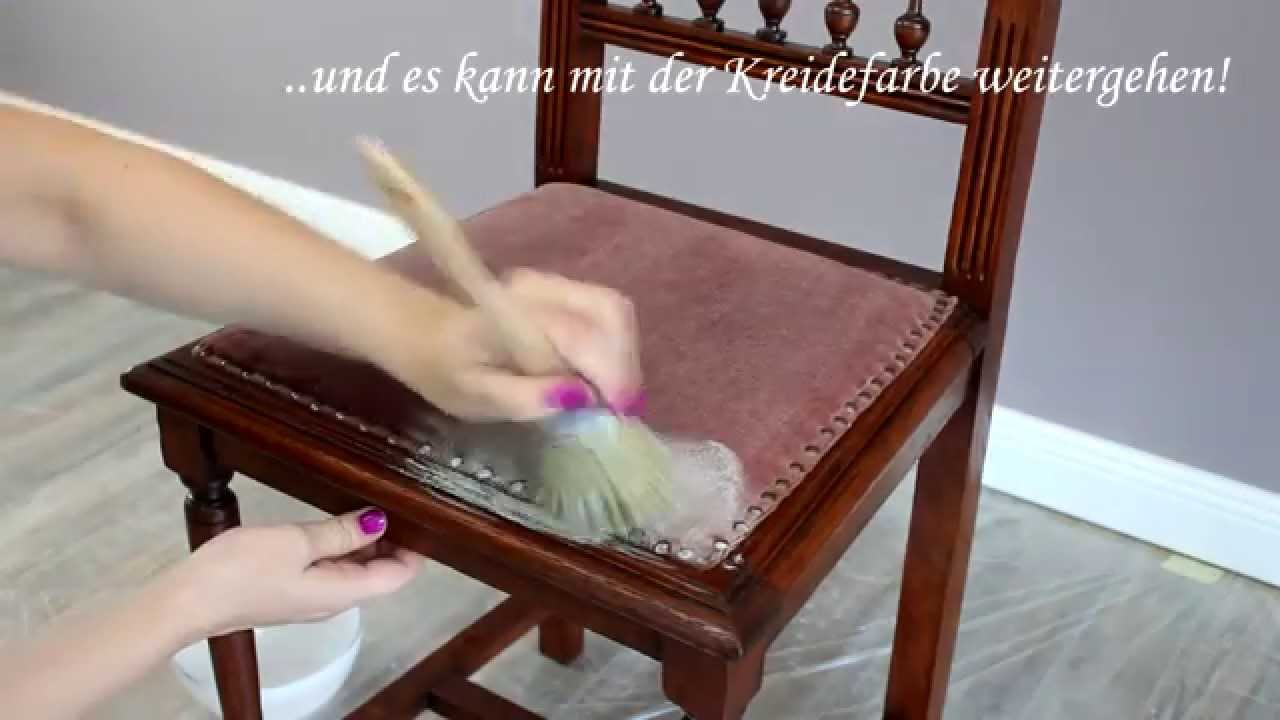 stoffe mit kreidefarbe anmalen der test youtube. Black Bedroom Furniture Sets. Home Design Ideas