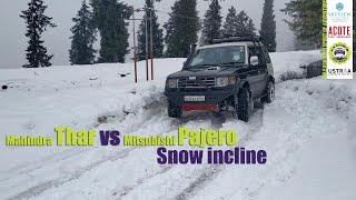 Mahindra Thar | Mitsubishi Pajero | Snow incline | Snow Drive | Kashmir Off Road