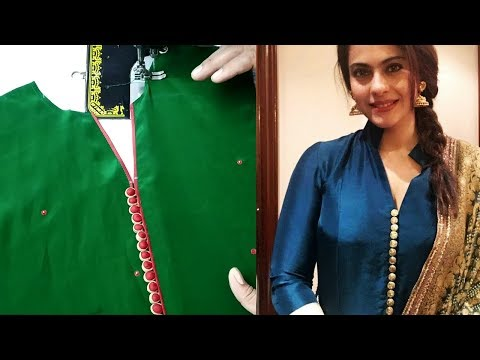 Latest Punjabi Suit/Kurti Neck Design Cutting and Stitching