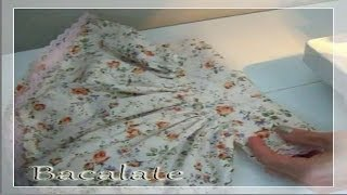 Como fazer VESTIDO de BONECA de PANO – Artesanato Bacalate