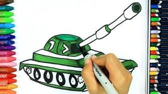 Wie zeichnet man Panzer | Ausmalen Kinder HD | Kindervideos | Malen für Kinder | Zeichnen und Färben