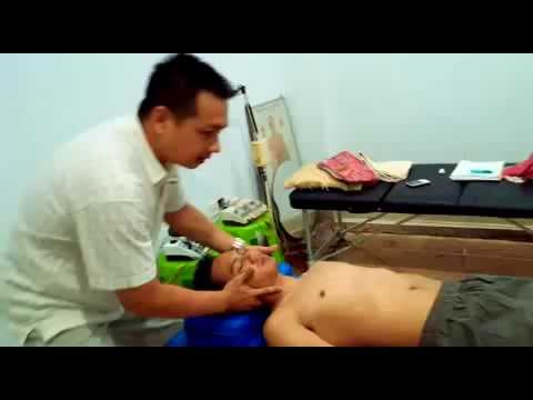 Cervical adjustment C1 and C4