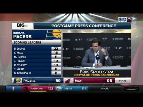 Erik Spoelstra -- Miami Heat vs. Indiana Pacers 12/14/2016