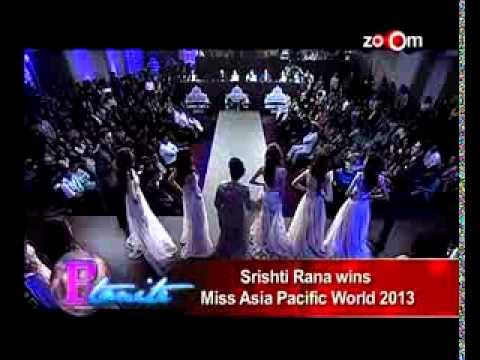 Zoom TV Srishti Rana wins Miss Asia Pacific Supertalent of the World 2013
