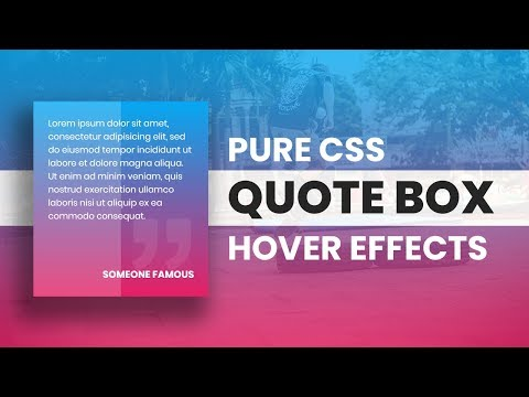 Pure CSS Quote Box Hover Effects   Html CSS