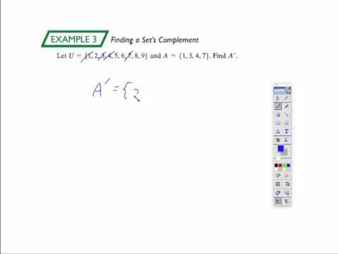 Mgf 2106 Section 23 Venn Diagrams And Set Operations Part 1 Youtube