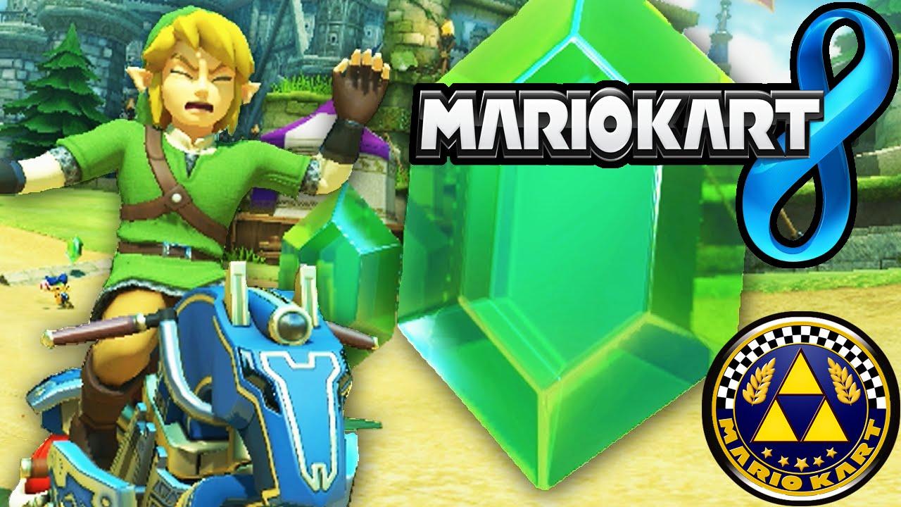 Mario Kart 8 Dlc Pack 1 Zelda Hyrule Link Master Cycle Triforce Cup New Characters Gameplay Wii U Hd