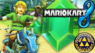 Mario Kart 8 DLC Pack 1 Zelda Hyrule Link Master Cycle Triforce Cup New Characters Gameplay Wii U HD