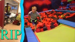 Trippel backflip attempt FAIL! **AMBULANSE** (Rush Trampolinepark)
