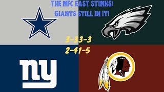 Dallas Cowboys STINK! Eagles STINK! The NFC East STINKS! New York Giants Still Have a Chance