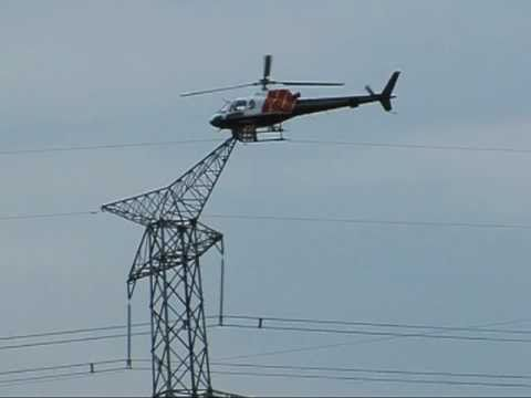 Hydro One Chopper Picking Up Linesmen