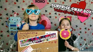 Valentine's Surprise Swap Box with Surprise Eggs and Toy Fun - Roblox, Happy Places, Pokemon
