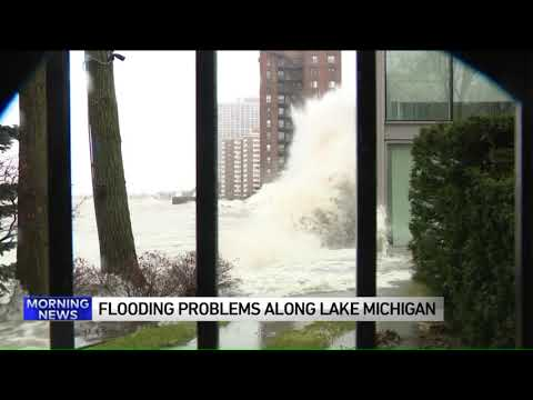 Mick Lee - Sinkhole Opens up Along Lake Michigan After Storms this Weekend