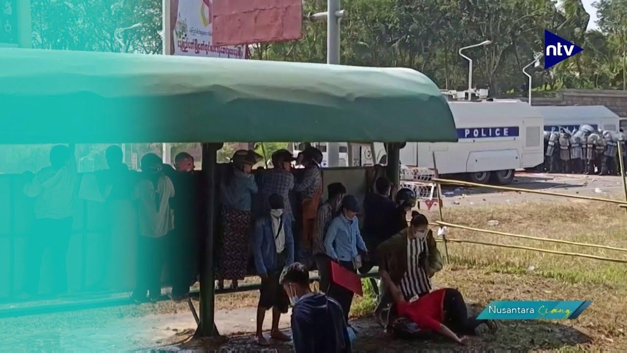 Myanmar Memanas Setelah Polisi Tembak Pengunjuk Rasa Perempuan